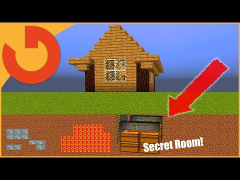 ✔ Minecraft: How to build a House with SECRET STORAGE ROOM!