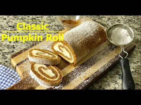 How to Make a Perfect Pumpkin Roll Cake with cream cheese filling