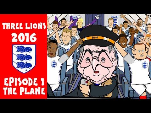 Three Lions: 2016, EPISODE 1! (England football squad travel to Euro 2016 on Woy's Plane)
