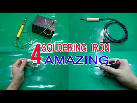 4 Ways Amazing To Make A Soldering Iron At Home