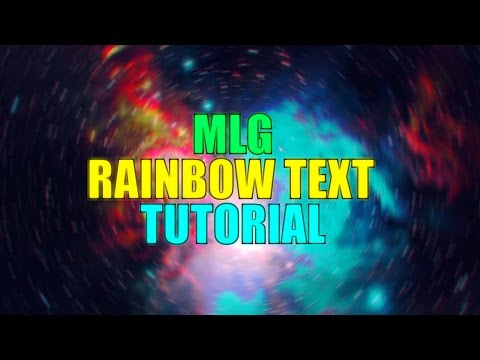 MLG Rainbow Text : Adobe After Effects Tutorial