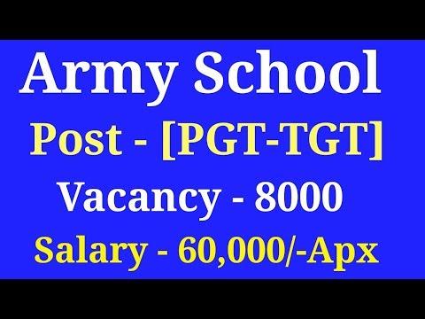 Army School Recruitment 2017-Army school TGT-PGT Vacancy- TGT PGT Syllabus-Govt Teacher in army