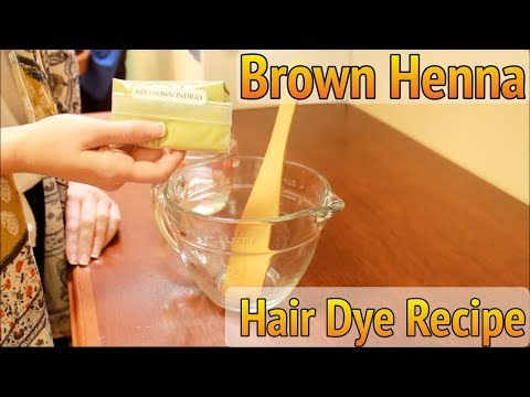 How to Make Brown Henna Hair Dye