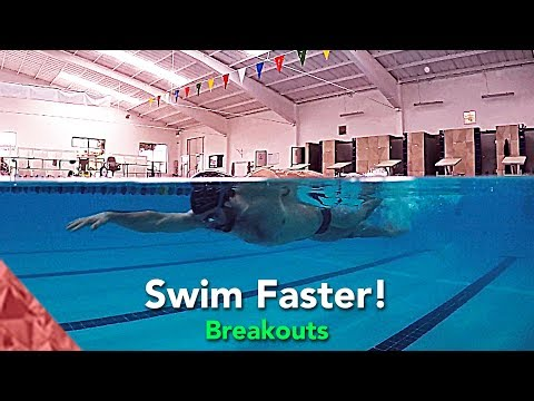 How to swim faster freestyle and backstroke. Breakouts. Swimming tips