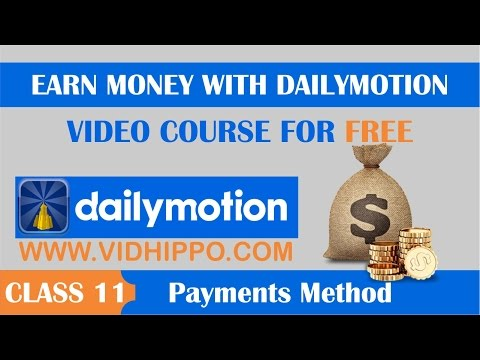 How to Get Dailymotion Payment Banking information - Class 11