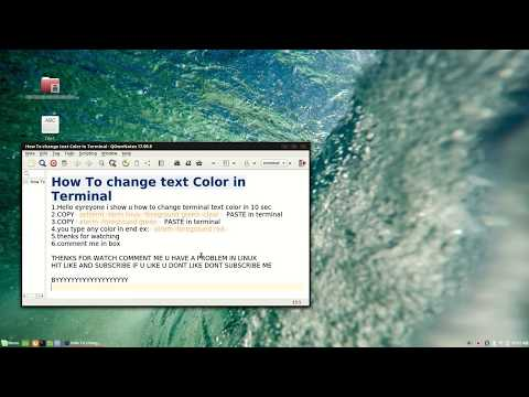 How To change Terminal Text Color