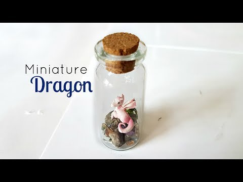 Miniature Dragon in a Bottle ♥ Polymer Clay Tutorial