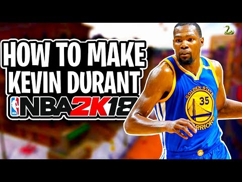 How To Make Your MyPlayer EXACTLY Like Kevin Durant NBA 2K18 | KD Face Creation & Build