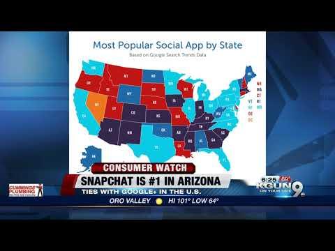 Snapchat is the most popular social media app in Arizona