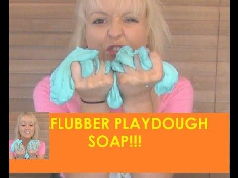 DIY How to Make Flubber Playdough Soap