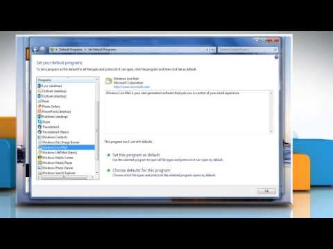 How to Change default e-mail program in Windows® 7