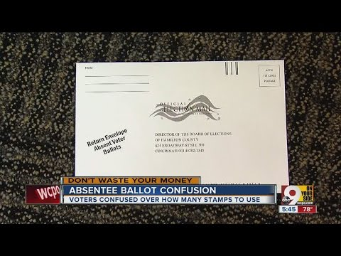 How many stamps should you put on your absentee ballot?