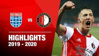 Bozeník matchwinner na stormachtig spektakelstuk   Highlights PEC Zwolle - Feyenoord   Eredivisie