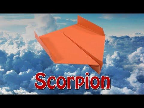 Бумажный самолёт Scorpion Paper airplane Scorpion