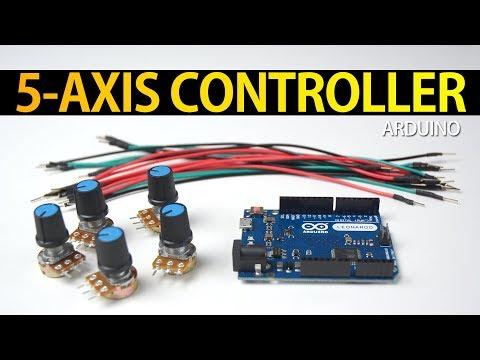 5 AXIS ANALOG JOYSTICK GAME CONTROLLER