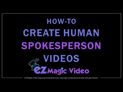 How to Create Human Spokesperson Videos