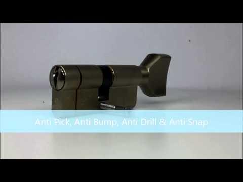 ISEO F6 Extra S Key & Turn - Anti Snap Euro Cylinder