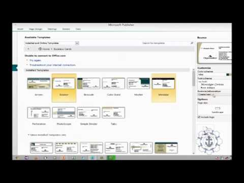 how to create a business card in Microsoft Publisher 2010 Exercise 1