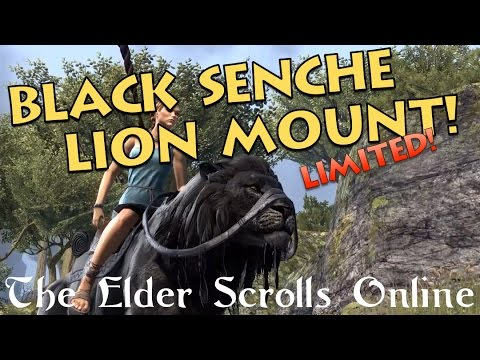 Black Senche-Lion Mount - The Elder Scrolls Online