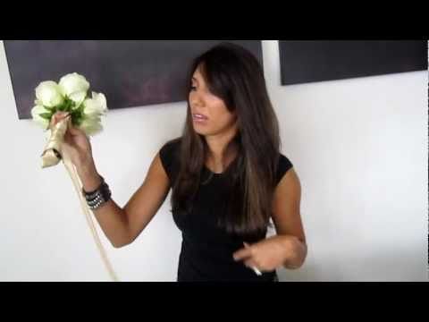 How to make a bridesmaid bouquet part 2 with ribbon