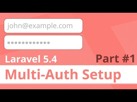 Multiple Authentication in Laravel 5 4 Natively! (Admins +