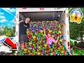 PUTTING 50000 BALL PIT BALLS IN A MOVING TRUCK