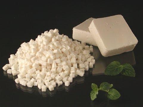 FOODLOGISTIK - Feta cheese dicing, 8x8x8 mm cubes