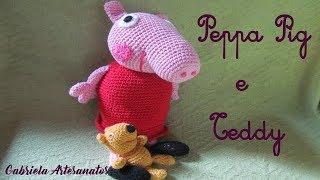 Peppa Pig und ihr Teddybär-Tutorial.   Peppa pig, Puppe häkeln und ...   180x320