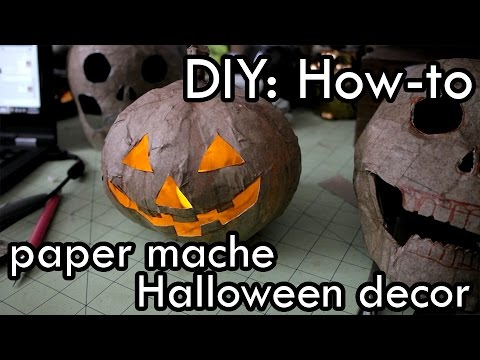 How to Make Paper Mache Halloween Decorations : DIY