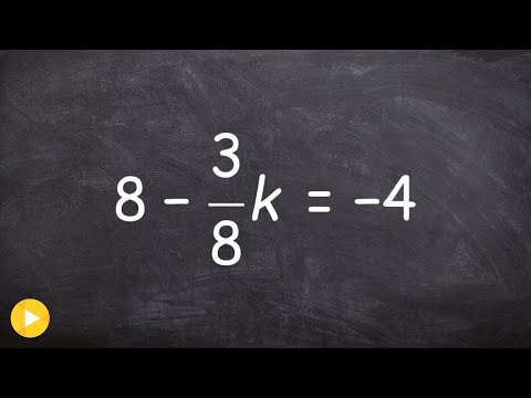 Learning to solve a two step equation with one fraction