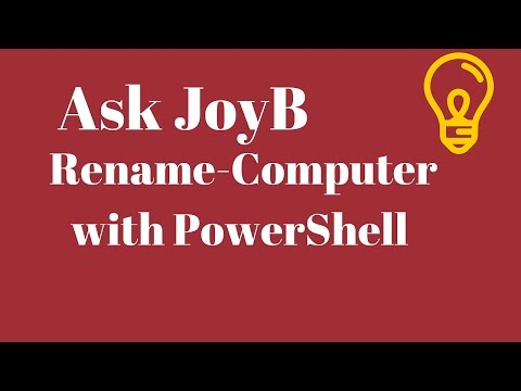 Rename Computer Change Computer Name from PowerShell