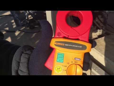 Earth cable resistance checking with 1630 earth ground clamp meter