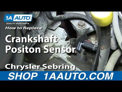 How To Install Engine Crankshaft Positon Sensor 2.7L 2001-06 Chrysler Sebring Dodge Stratus More