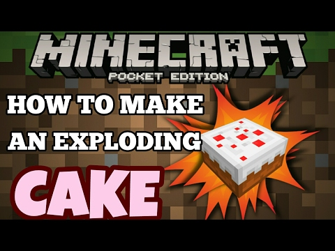 How To Make An Exploding CAKE [Minecraft Pocket Edition]