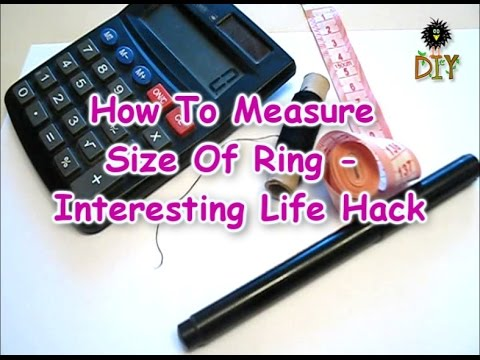 How To Measure A Size Of The Ring - Cool Life Hack