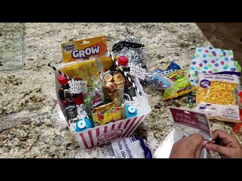 DIY Family Movie Night themed gift basket|| Dollar Tree Finds