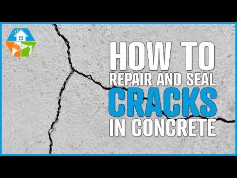 How to repair, seal and waterproof large cracks in concrete, cement, steel, pvc