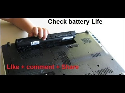 How to check battery life in laptop