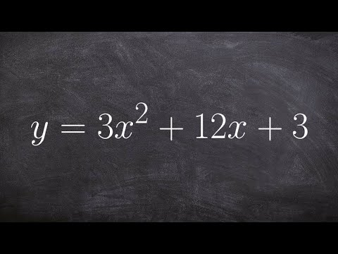 Find the axis of symmetry and your vertex