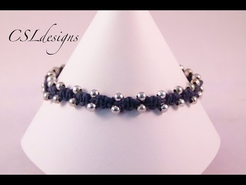 Simple and easy macrame bracelet