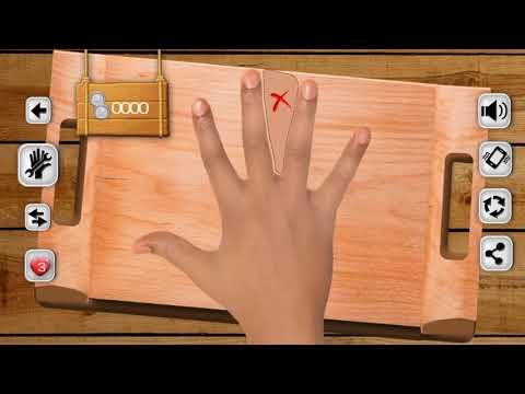 Finger Knife Hand Game Challenge