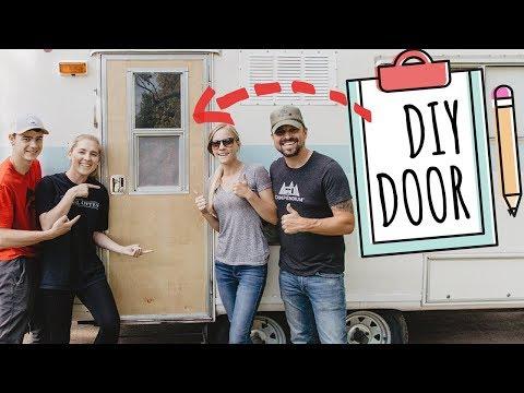 DIY DOOR for RV LIVING 😍🛠 Build a Door for your RV - Do It Yourself