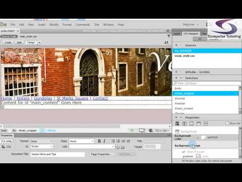 Insert copyright symbol - How to create a website from scratch in Dreamweaver part 7