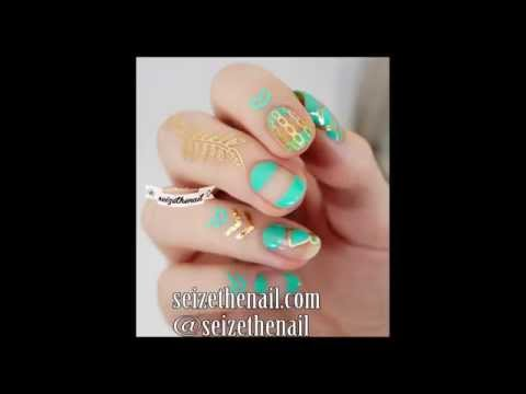 How to apply a temporary tattoo nail art