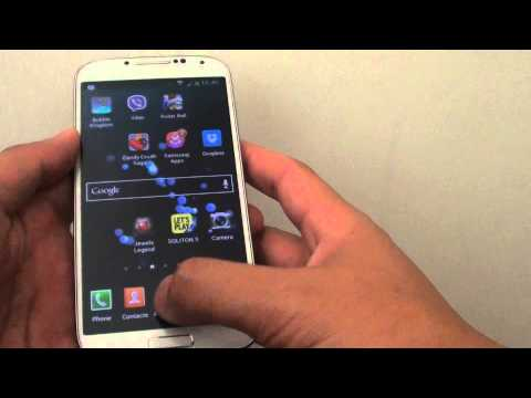Samsung Galaxy S4: How to Add/Remove Apps Icon From Home Screen Quick Launch