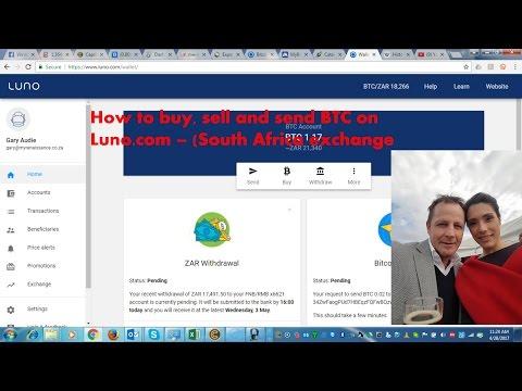 Luno: How to buy BTC, sell BTC and send BTC