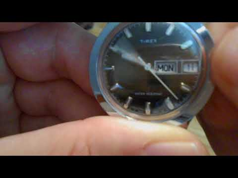 How to Change the Day and Date on a Vintage 1977 Timex Watch