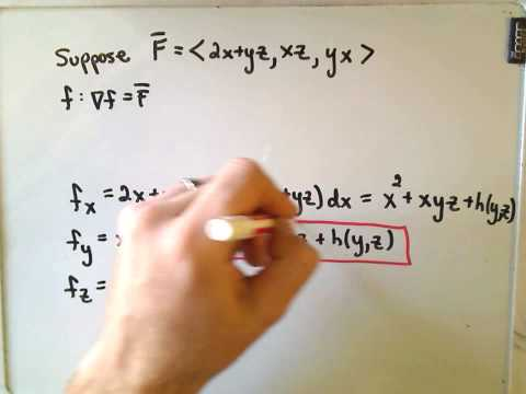 Finding a Potential for a Conservative Vector Field
