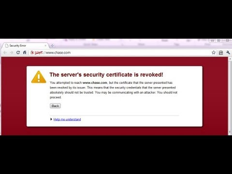 The server's security certificate is revoked! how to solve it