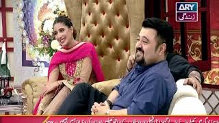 "Faysal,Mehwish Hayat, Humayoun Saeed, Ahmed Butt & Aijaz Aslam playing ""A to Z"""